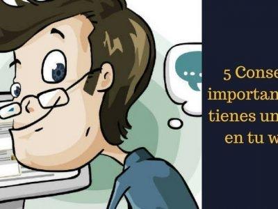 5 Consejos si tienes un chat en tu web