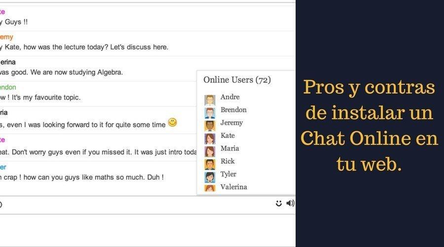Chat online. Ventajas e inconvenientes.